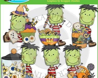 Little Frank Trick or Treat Clip Art