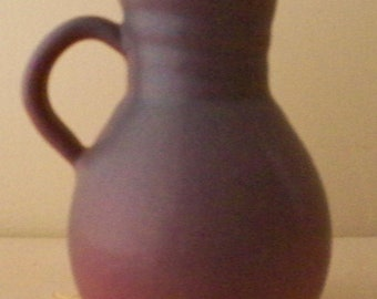 Van Briggle Pottery Mulberry Mini Pitcher Creamer Ribbed Neck Colorado Springs Pottery