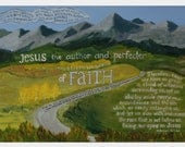 Faith original oil painting print