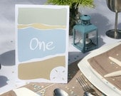Beach Wedding Table Numbers – Set of 20 Cards for Tables 1 to 20 Great for Ocean Wedding