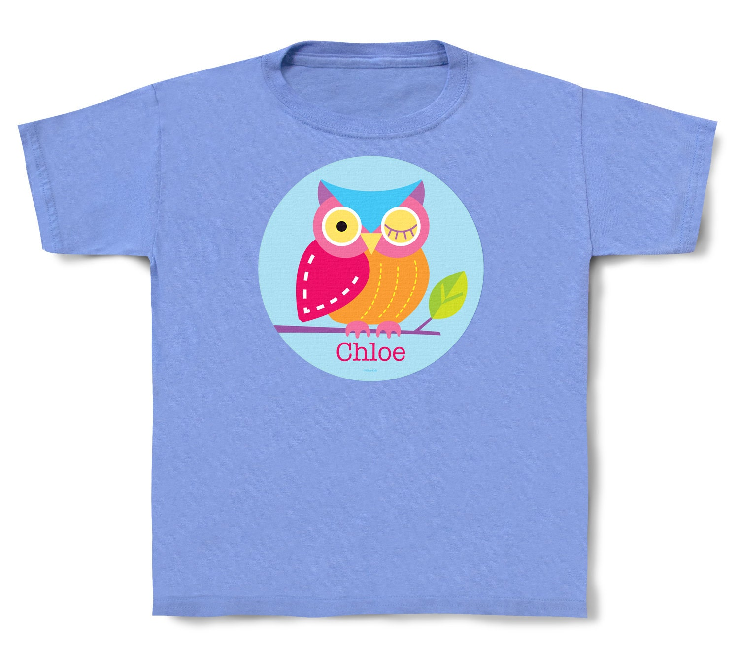 personalized kids owl t shirt cotton toddler and