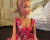 Barbie Doll Ballerina Ballet Doll in Princess Aurora Costume and Gold Crown Sleeping Beauty 1975 Mattel