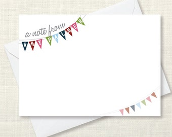 Stationary - Bunting - set of 10 notecards