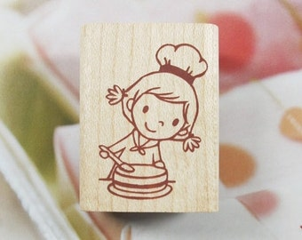 Happy Bakery C Rubber Stamp