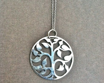 Tree of Life charm necklace, sterling silver charm. delicate necklace