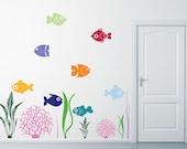 Sea Life Theme Children's Decor - Complete Seascape - Sea Life Wall Decals