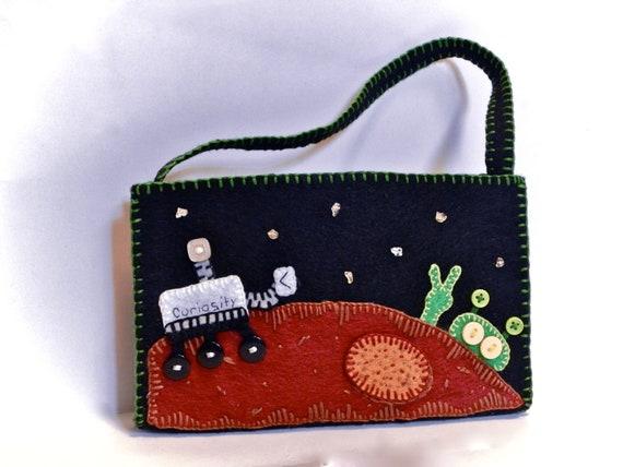 Curiosity Finds Peace mini handbag