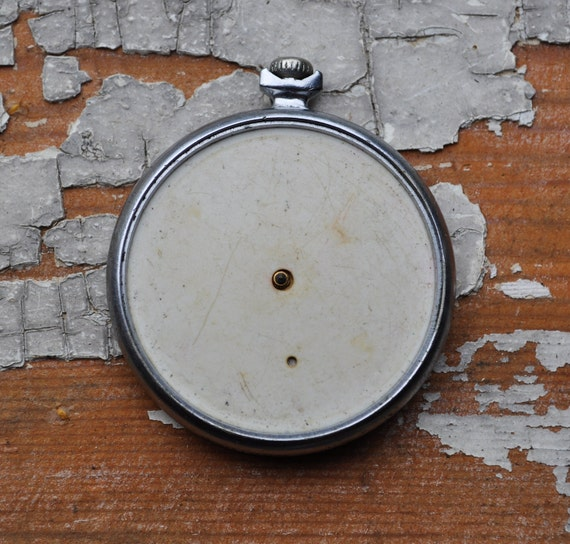 Vintage pocket watch case with movement.MOLNIJA.