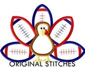 Football Turkey Applique and Machine Embroidery Digital Design File  4x4 5x7 6x10