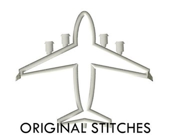 C-17 Transport Military Airplane Applique and Machine Embroidery Digital Design File 4x4 5x7 6x10