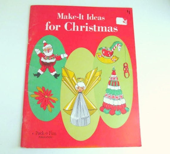 Vintage make it ideas for christmas book 1969 pack o fun for Vintage christmas craft supplies