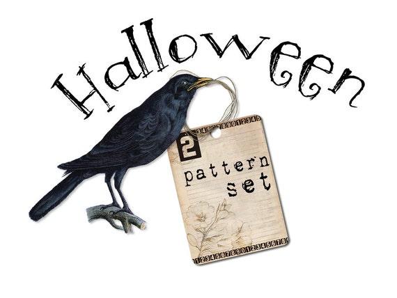 Embroidery Pattern PDF Halloween Set  Zombie Owl Pumpkin Cat Witch