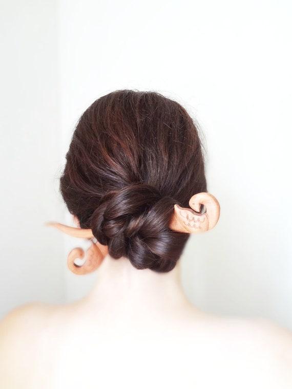 swan hair stick viking sagas medieval norse asian kanzashi chinese hair pin hairstick barrette