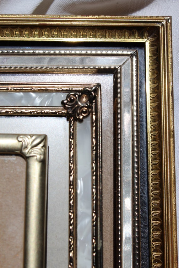 Vintage Instant Collection Picture Frames Mother of Pearl Look