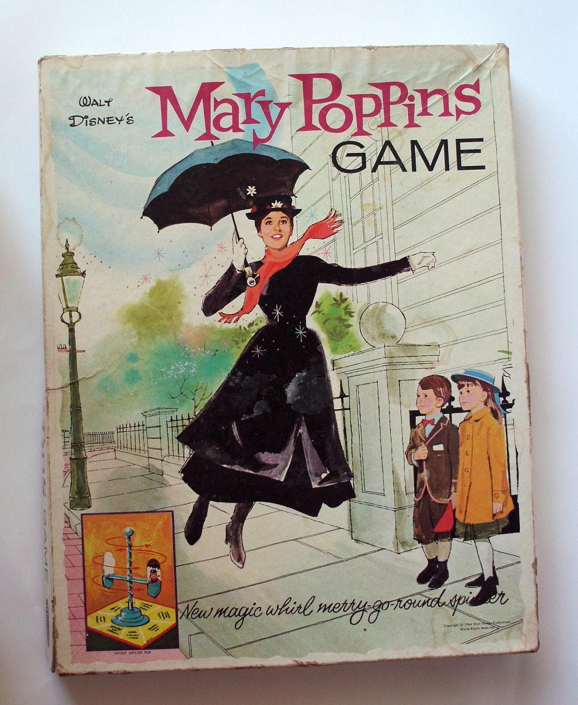 60s Disney Mary Poppins Board Game By Poorlittlerobin On Etsy