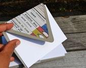 Vintage Penguin Books Paper Handlined Envelopes with Blank Note Card Set