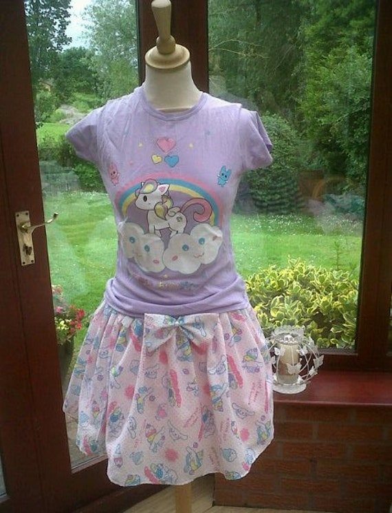 Fairy Kei Cinnamoroll Skirt and matching bow Size UK 6-10
