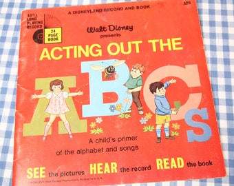 acting out the abc's, vintage 1978 children's book