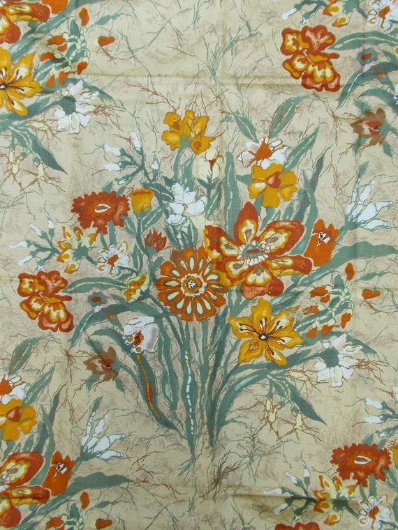 Vintage Gabrielle Cie floral print fabric 3 yards