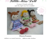 "Little Miss 12"" Doll PDF Sewing Pattern"
