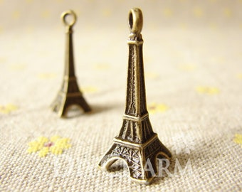 Antique Bronze Paris Effiel Iron Pagoda Charms 30x11mm - 10Pcs - DC25402