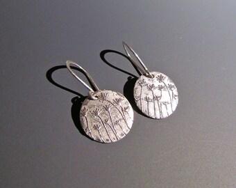 Dandelion Earrings - Wishes Earrings - Sterling Silver - Earrings - Flower Earrings - Jewelry - Dandelion - Dandelions - Wish - Floral