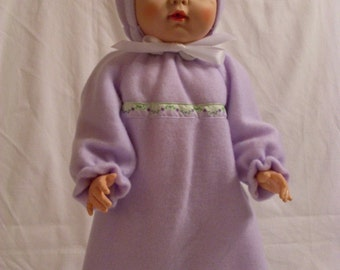 """19-20"""" Lavender Bunting and Hood Set"""