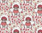 Cloud 9 Maman Petites Filles Organic Cotton fabric, 1 yard