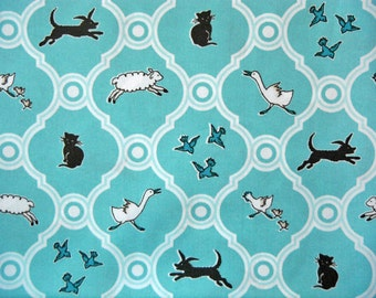 Cloud 9 Maman Menagerie Organic Cotton fabric, 1 yard