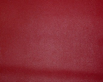"Leather 8""x10"" Red Upholstery Pigskin 2 oz / .8 mm PeggySueAlso"