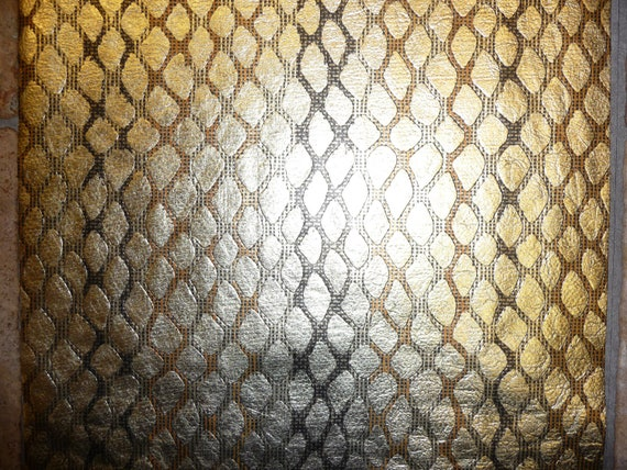 "NEW 8""x10"" Metallic Gold Diamond like pattern multicolored background Cowhide Leather Hide"