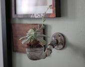 Distressed Wall Flower Pot