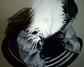 Large Black and White Hat