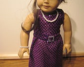 Doll Clothes Majestic Purple Sequin Gown Also Fits Most 18 Inch Soft Bodied Dolls