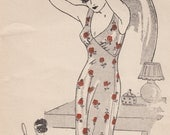 """30s 38"""" Bust - New York 4082 Evening Gown or Loungewear - FF Unused"""