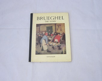 Vintage Art Book, Brueghel the Elder by Andre Leclerc, Hyperion Miniatures, 1st Edition, Hardcover
