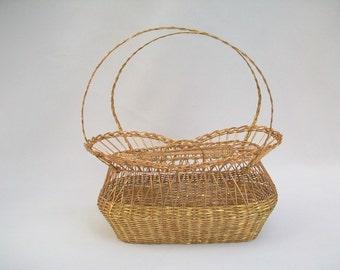 Versatile Metal Woven Basket