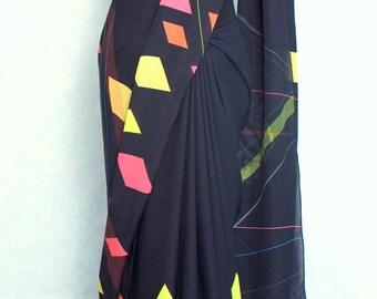 Ghosts & Lasers Silk Georgette Sari