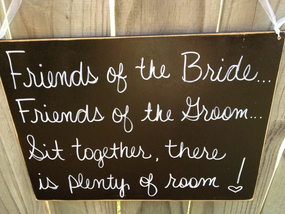 Rustic Black and White Sit Together Wedding Hang Sign