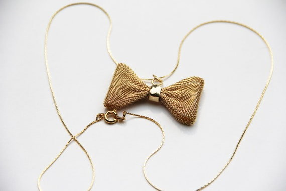 Golden Dapper Bow-tie Necklace