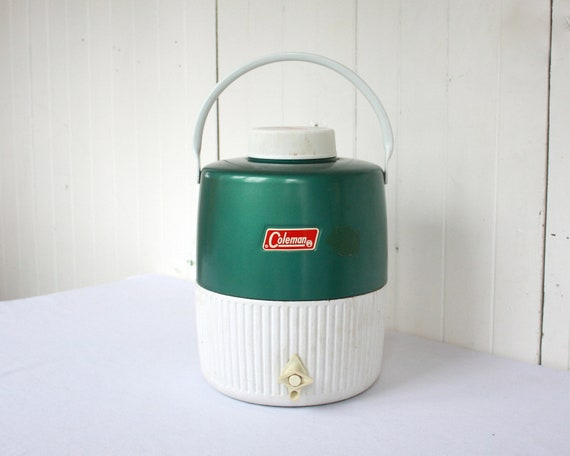 Vintage Coleman Cooler, Water Cooler, Thermos, Picnic Water Cooler, Sports, Football, Vintage Camping, Fall, Green
