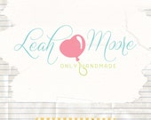 Cute premade business logo pre made logo text logo with a heart balloon photography branding and watermark