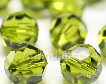 Swarovski Elements Crystal Beads 5000 Round Ball Beads OLIVINE - Available in  6mm ,8mm and 10mm