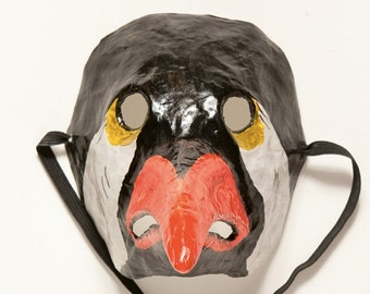 Paper mache bird mask