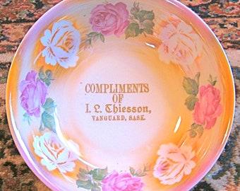 50% OFF Vintage Lusterware 'Complimentary' Bavarian Floral Bowl