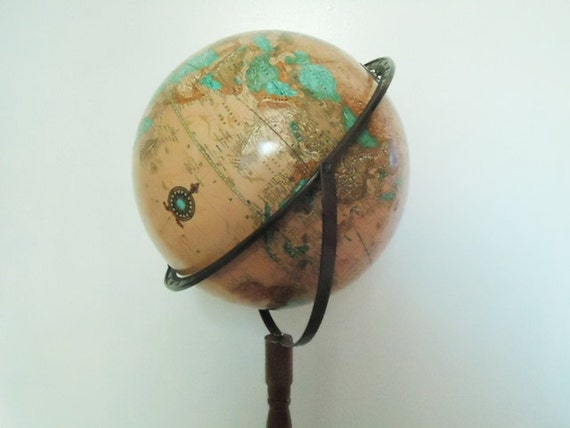 Vintage Crams World Globe - 34 inch World Globe - Floor World Globe - Vintage Crams World Globe