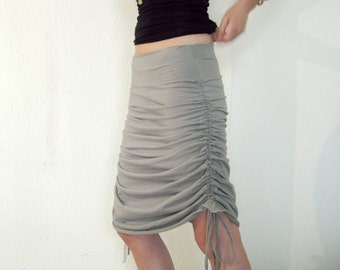 Women Skirt, Convertible maxi skirt, Grey Skirt