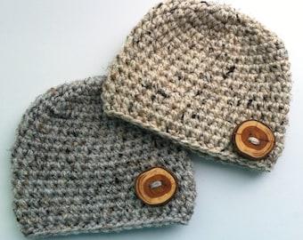 Twin Baby Boy Hats, Twin Baby Hats, Crochet Baby Beanie, Crochet Baby Hat, Baby Photo Prop, Matching Baby Hats, Baby Beanie