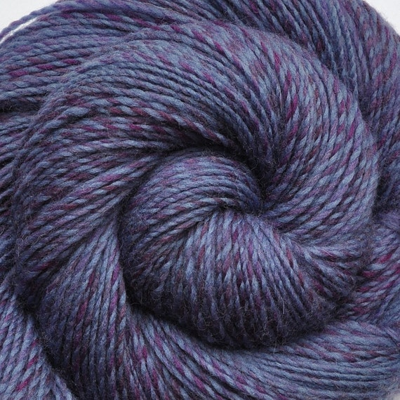 SALE - Handspun yarn - BLUE STONE - Hand-dyed Superwash wool, worsted weight. 230 yds.