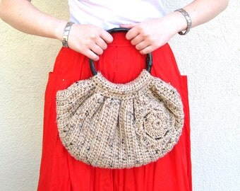 Crochet Boho Slouchy Slouch Bag Hippie Purse Womens Handmade Accessory for Summer
